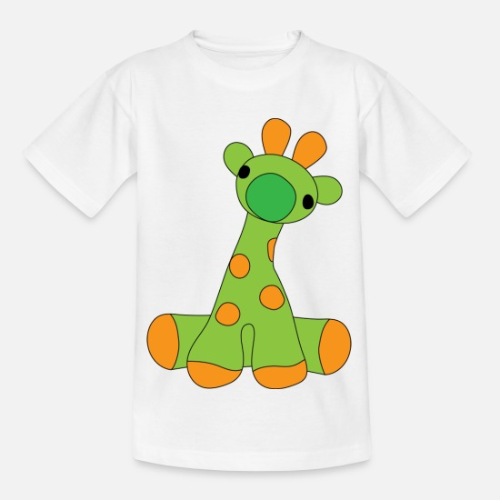 Bestseller Q4 2018 T-Shirts - Süße Orange spotted Monster - Kinder T-Shirt Weiß