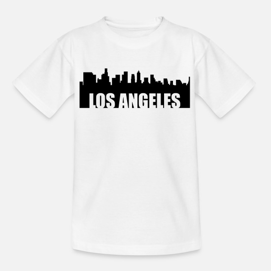 Los Angeles T-Shirts - Los Angeles - Kinder T-Shirt Weiß