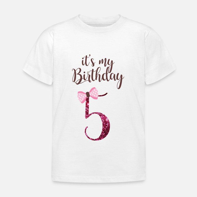 5 Geburtstag Madchen Prinzessin Geschenk 5 Jahre Kinder T Shirt