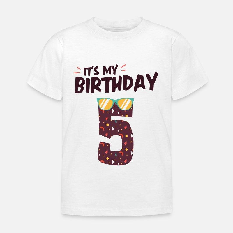 5th Birthday Boy Girl Gift T Shirt Kids