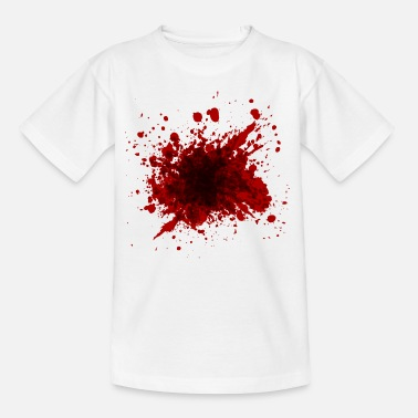 Bloodstain Halloween shirt bloodstain - Kids' T-Shirt