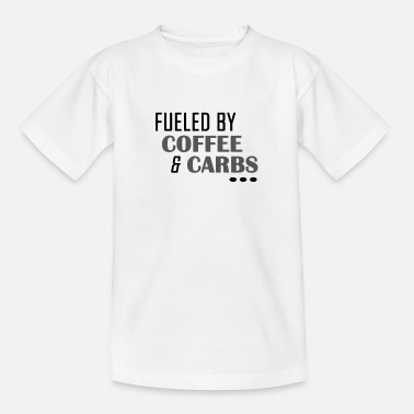 Helle Farben Fueled by Coffe and Carbs - Kinder T-Shirt
