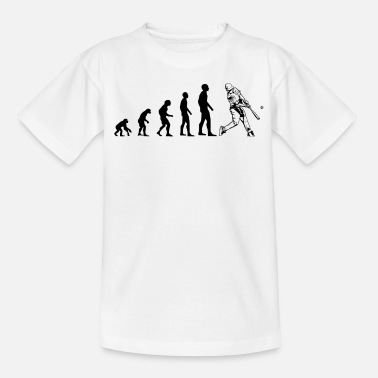 Evolusjon Baseball Player Evolution - T-skjorte for barn
