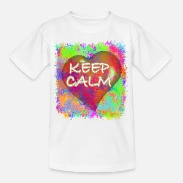 Full Of Color Keep Calm - Kinder T-Shirt