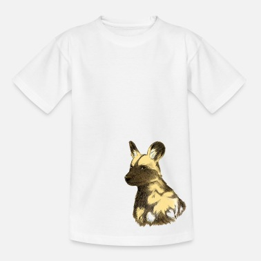 Wild Dog African wild dog sketch - Kids' T-Shirt