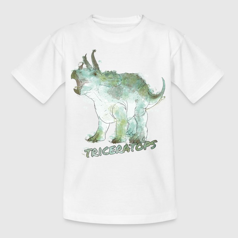 Animal Planet Dinosaurs Triceratops Watercolour - Kids' T-Shirt