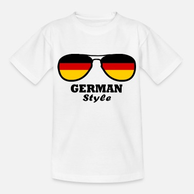 Germania German flag - glasses Styl - Kids' T-Shirt