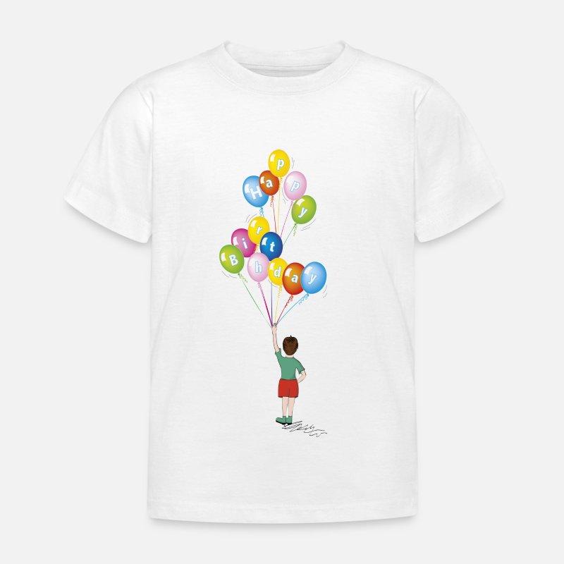 Compleanno Bambino Con Palloncini Maglietta Per Bambini Spreadshirt