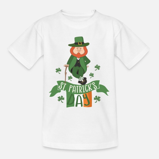 Day T-Shirts - St. Patrick's Day: Irish Leprechaun Leprechaun March 17 - Kids' T-Shirt white