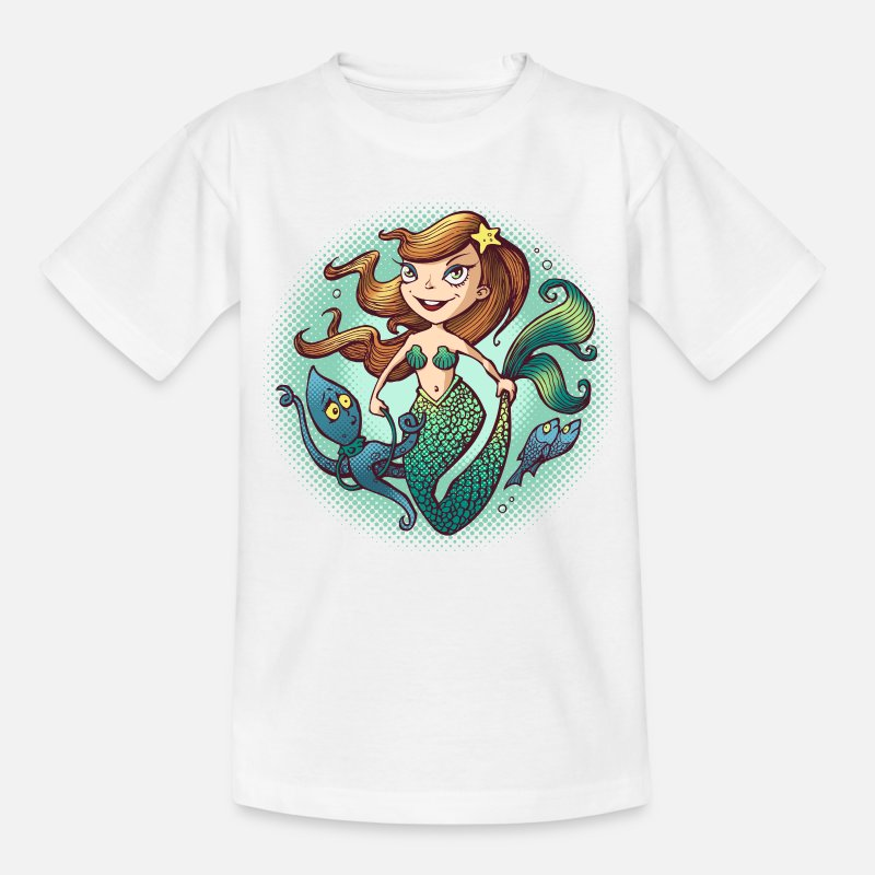 Collection For Kids T-shirts - Mermaid - T-shirt barn vit