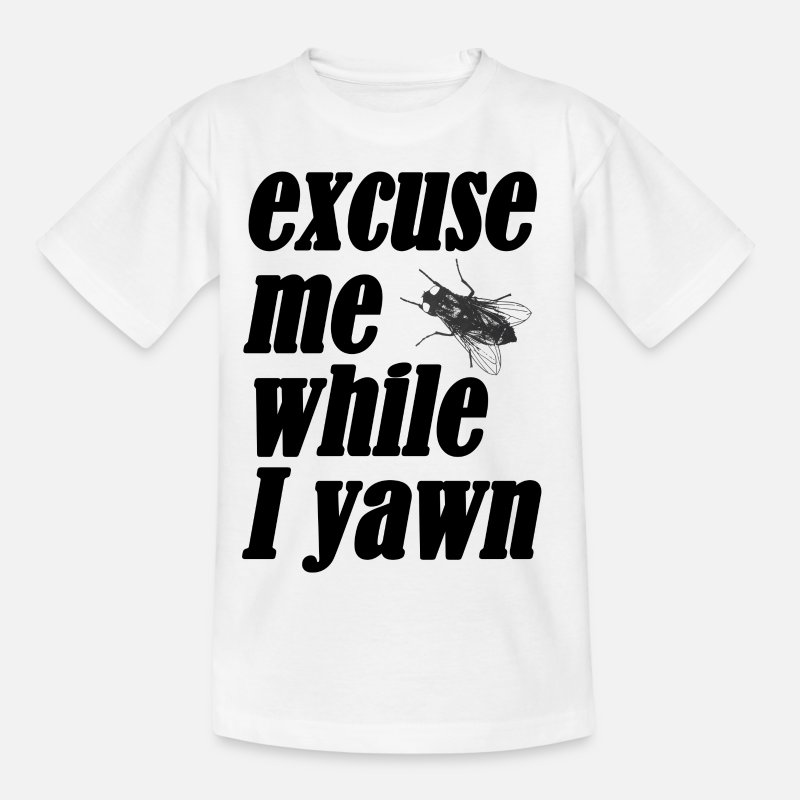 Ruby T-Shirts - Excuse me while I yawn - Kids' T-Shirt white