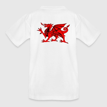 welsh red dragon graphic uk - Kids' T-Shirt