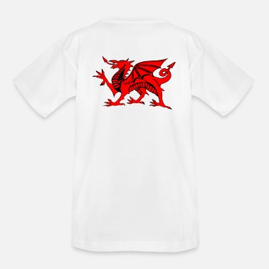 Welsh Dragon welsh red dragon graphic uk - Kids' T-Shirt