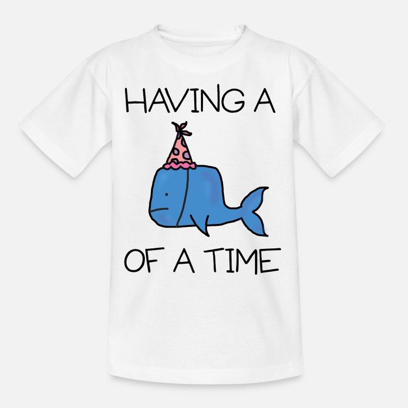Bestsellers Q4 2018 T-Shirts - Whale of A Time - Kids' T-Shirt white