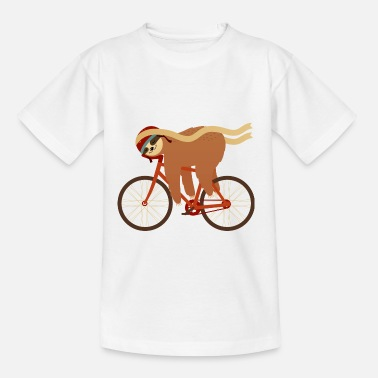 Collection For Kids Sloth Sleeping On Bicycle - Maglietta per bambini