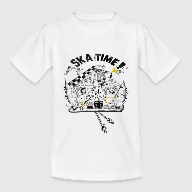 Ska Time Cuckoo Clock Buttons - Kids' T-Shirt