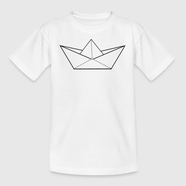 papier origami boot - Kinder T-Shirt