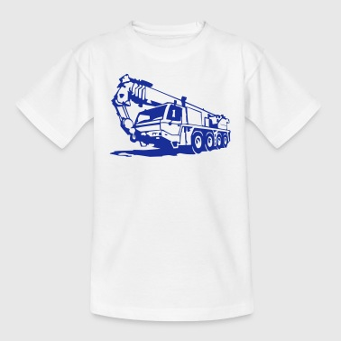 Autokran, crane (1 color) - Kids' T-Shirt
