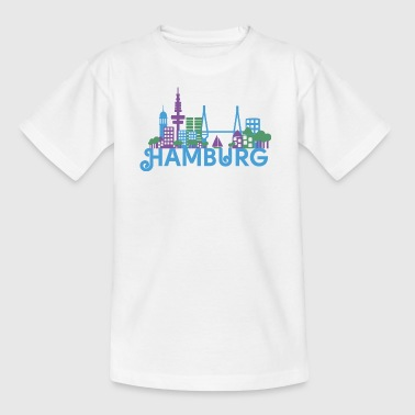 Skyline Hamburg - Kinder T-Shirt