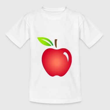 Ein roter Apfel - Kinder T-Shirt