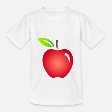 Rot Ein roter Apfel - Kinder T-Shirt