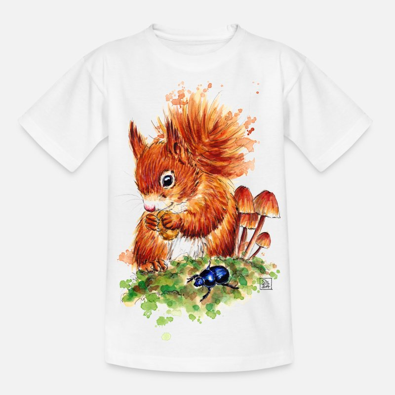 Squirrel T-Shirts - SM Eichhörnchen | squirrel T-Shirts - Kids' T-Shirt white