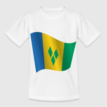 Saint Vincent And The Grenadines Waving Flag of Saint Vincent and the Grenadines - Kids' T-Shirt