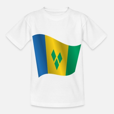 Vincent Waving Flag of Saint Vincent and the Grenadines - Kids' T-Shirt