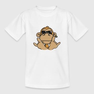 Cool monkey with sunglasses  Aprons - Kids' T-Shirt