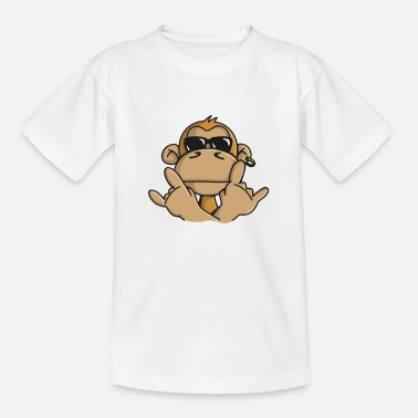Orangutan Cool monkey with sunglasses  Aprons - Kids' T-Shirt