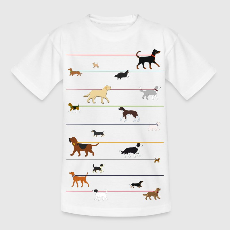 Dogs on a leash 1 - Kids' T-Shirt