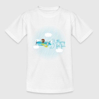 avion aviateur flying - T-shirt Enfant