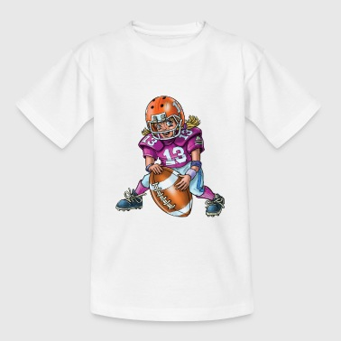 Little american football player - Kids' T-Shirt