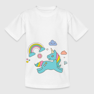 unicornio de color - Camiseta niño