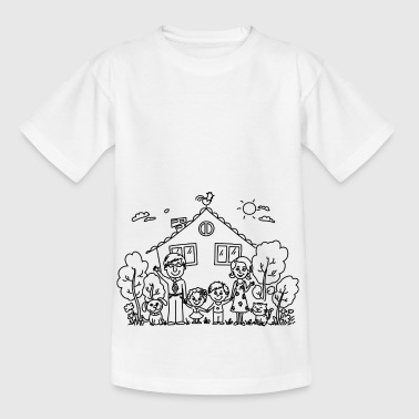 Happy family - Kids' T-Shirt