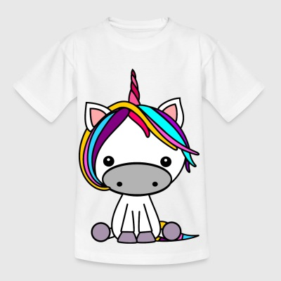 coloré Unicorn - T-shirt Enfant