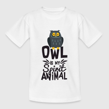 Perfect Owl Is My Spirit Animal Funny T Shirt - Kids' T-Shirt