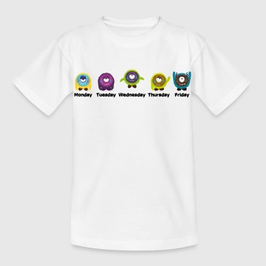 Days of the week Monster - Kids' T-Shirt