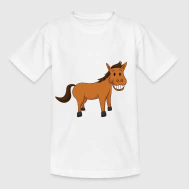 Lustiges Pferd - Kinder T-Shirt