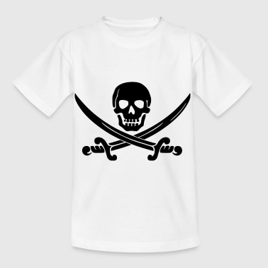 pirate ship boat pirat piratenschiff schiff skull1 - Kinder T-Shirt