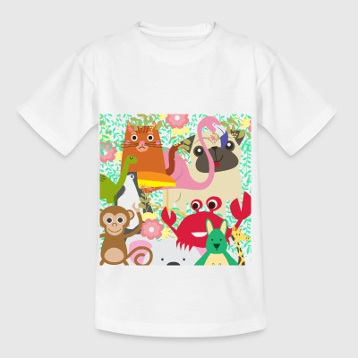 Colorful wildlife! - Kids' T-Shirt