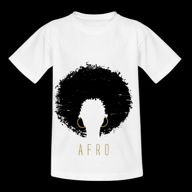 Black Afro Amerikaanse Latina Natural Hair - Kinderen T-shirt