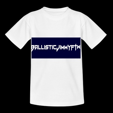BallisticJimmyFTW Labelled Rectange White - Kids' T-Shirt