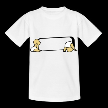 Zwillinge Namensschild - Kinder T-Shirt