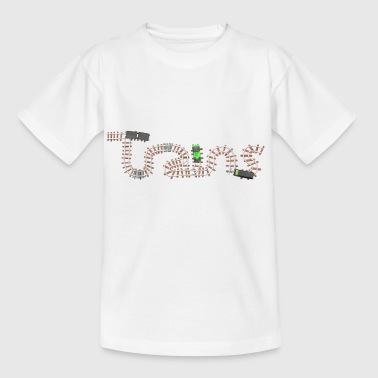Train set viewed from above - Kids' T-Shirt