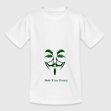 Save your Privacy Matrix Anonymous Geschenkidee - Kinder T-Shirt