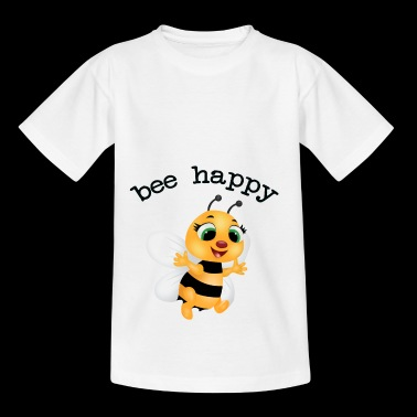 fleet bee, be happy - Kids' T-Shirt