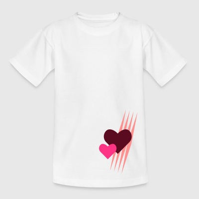 Teddy.Kidswear. - Hearts - Kinderen T-shirt
