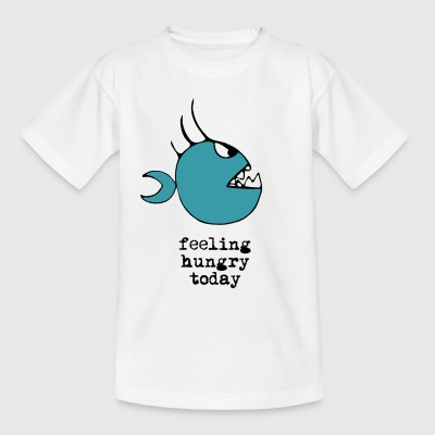 Hungrig piranha ritning - T-shirt barn
