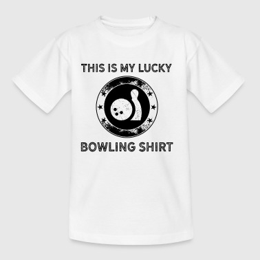 This is my luck bowling shirt - lucky bowling pins - Kids' T-Shirt